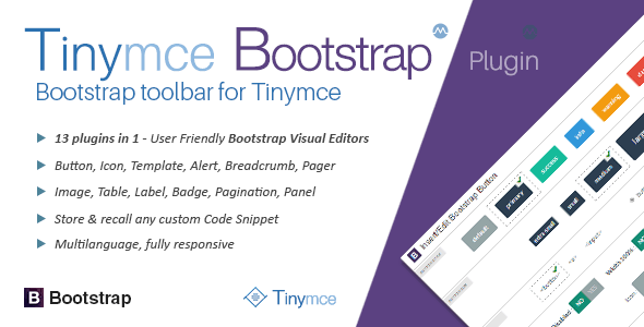 Bootstrap toolbar for tinyMce